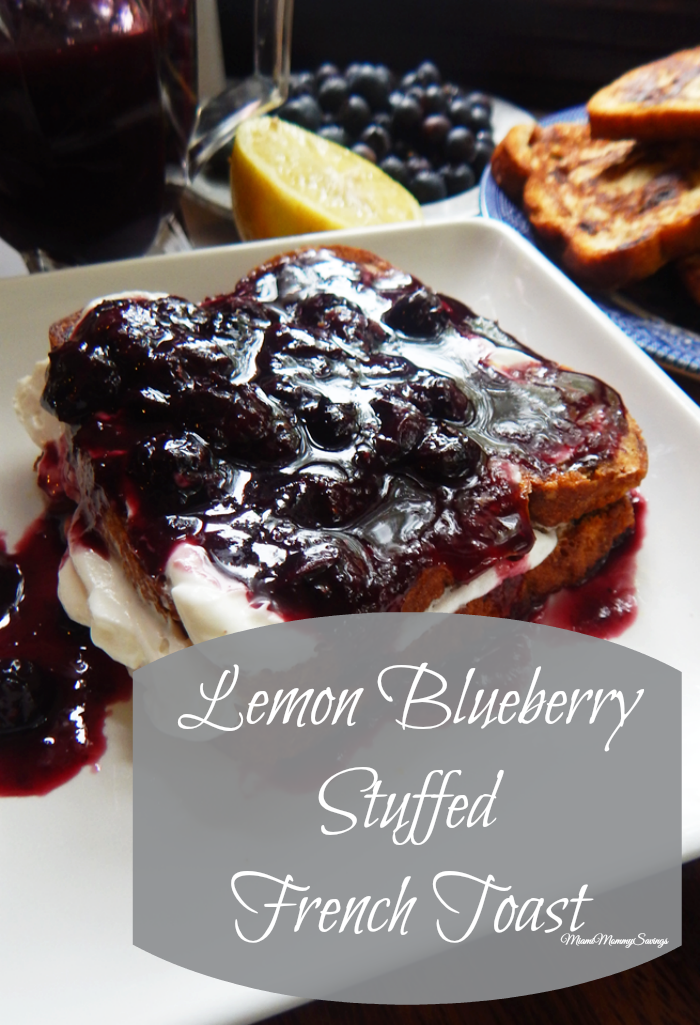 Lemon Blueberry Stuffed French Toast, more at MiamiMommySavings.com