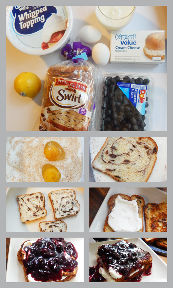 Lemon Blueberry Stuffed French Toast step-by-step, more at MiamiMommySavings.com