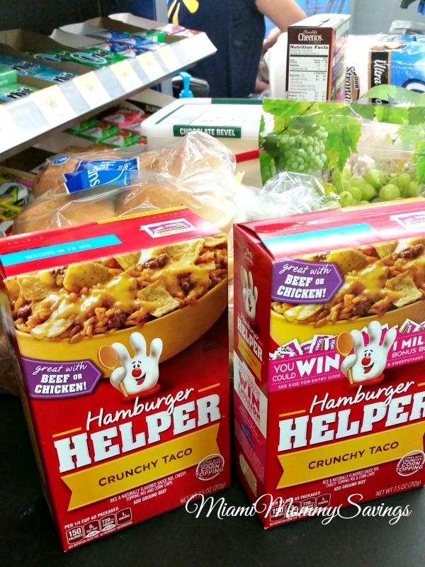 Shopping for Hamburger Helper at Walmart, more at MiamiMommySavings.com