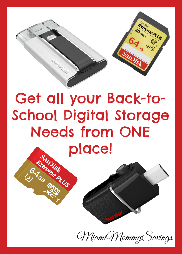 Get All Your Back-To-School Digital Storage Needs from One Place, more at MiamiMommySavings.com