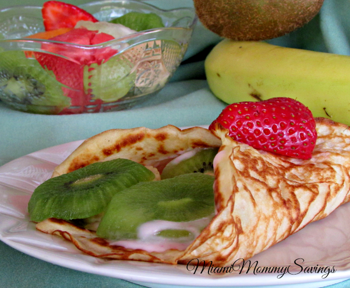Stuffed Fruit and Yogurt Crepes Recipe, more at MiamiMommySavings.com
