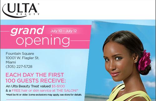 Ulta Beauty Miami Opening Invite