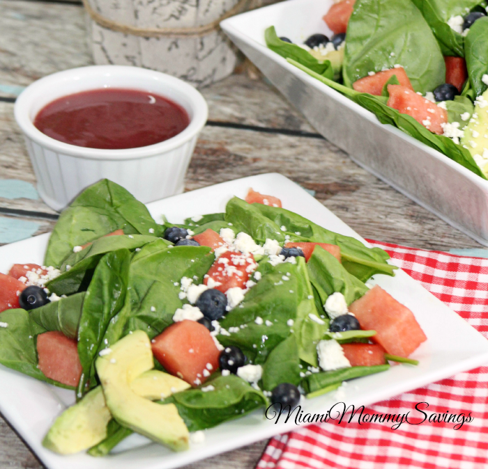 Watermelon Salad Recipe, more at MiamiMommySavings.com