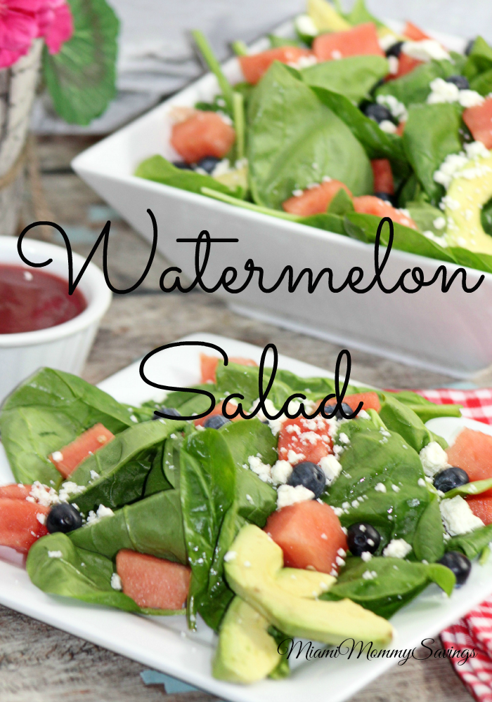 Delicious Watermelon Salad, More at MiamiMommySavings.com