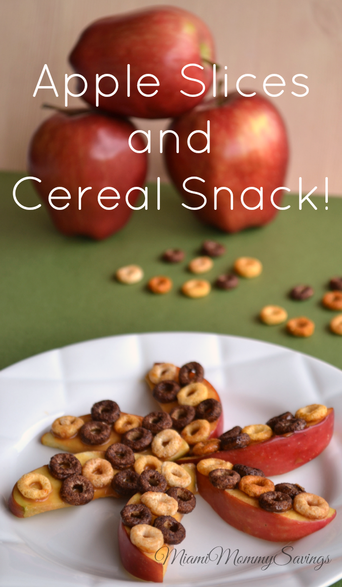 Apple Slices and Cereal Snack, more at MiamiMommySavings.com