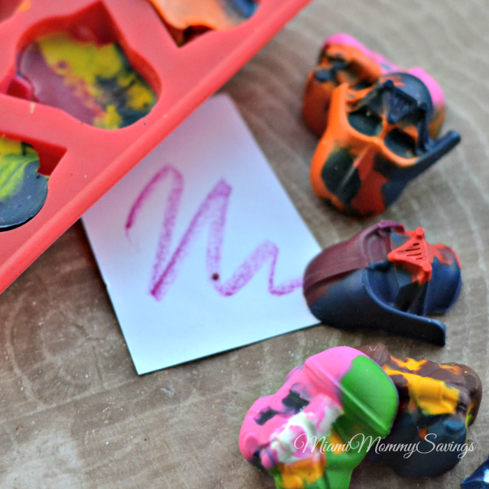 Recycled Fun Shaped Crayons, more at MiamiMommySavings.com