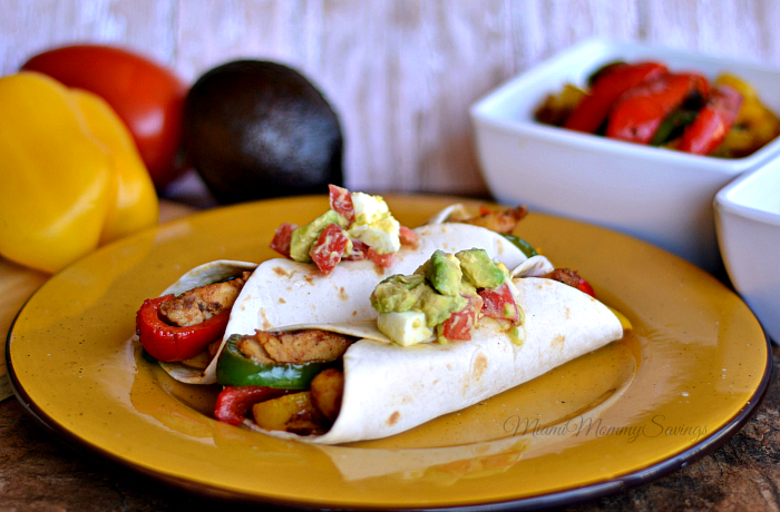 Chicken Fajitas with Guacamole