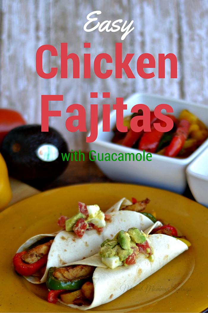 Chicken Fajitas with Guacamole, more at MiamiMommySavings.com