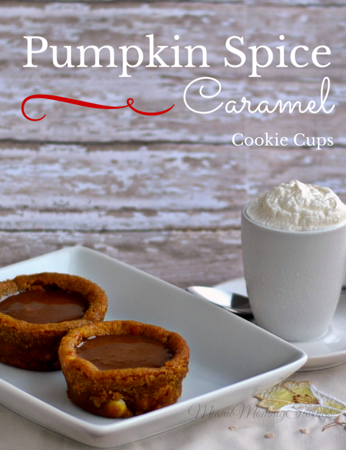 Enjoy the flavors of the season with this Pumpkin Spice Caramel Cookie Cups recipe. These cups are the perfect bite-size dessert with the rich delicious flavor of caramel topping. Get the recipe at CleverlyMe.com