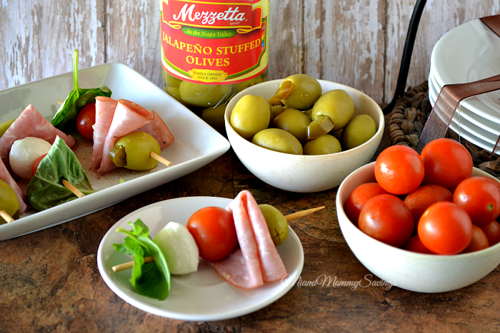 Easy Antipasto Skewers, more at MiamiMommySavings.com