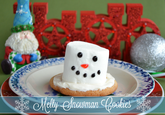 Melty Snowman Cookies