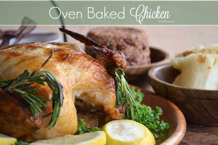 Oven Baked Chicken Recipe, more at MiamiMommySavings.com
