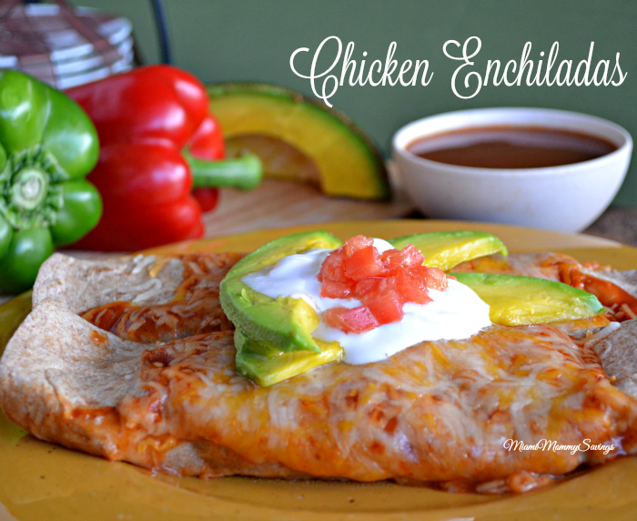This chicken enchilada recipe is very simple to make, and is a family favorite. Try it today, get the recipe at MiamiMommySavings.com