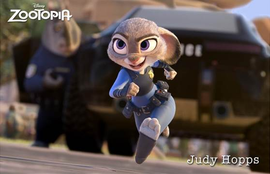 """Ginnifer Goodwin as the voice of """"Judy Hopps"""" in Zootopia"""