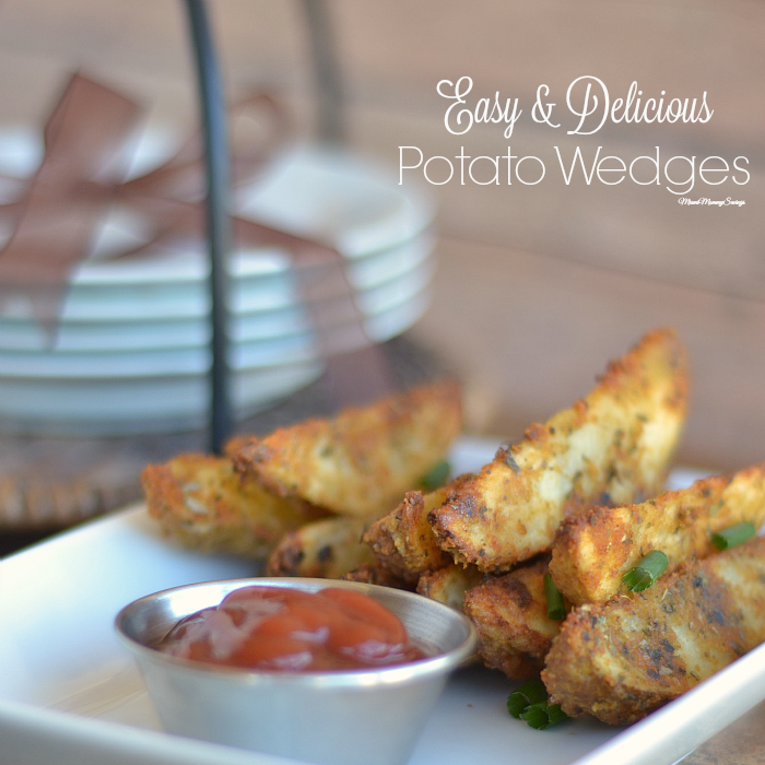 Easy and Delicious Potato Wedges Recipe, more at MiamiMommySavings.com