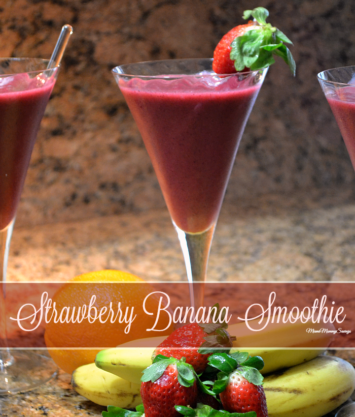 Strawberry Banana Smoothie, more at MiamiMommySavings.com