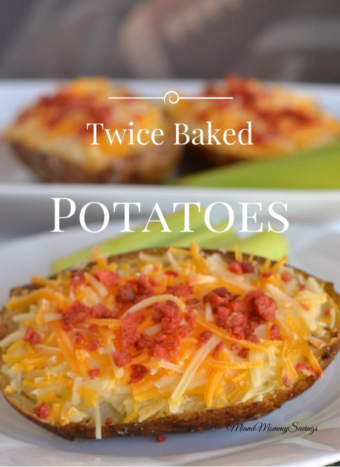 Twice Baked Potatoes Recipe, more at MiamiMommySavings.com