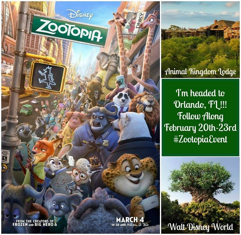 I am Heading to the Zootopia Event from 2/20 to 2/23