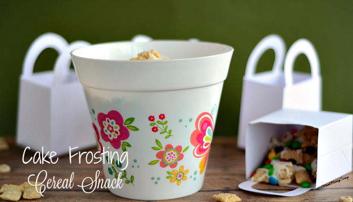 Easy and delicious Cake Frosting Cereal Mix. Find the recipe at MiamiMommySavings.com