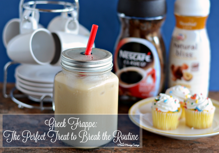 Greek Frappe: The Perfect Treat to Break the Routine. Get the recipe at MiamiMommySavings.com