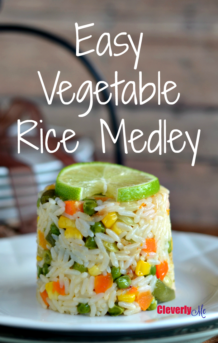 Enjoy this Easy Vegetable Rice Medley, more at CleverlyMe.com