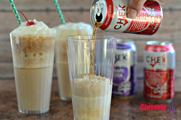 Enjoy Summer with this Fast and Easy Ice Cream Cola Float Recipe. Find this easy recipe at CleverlyMe.com