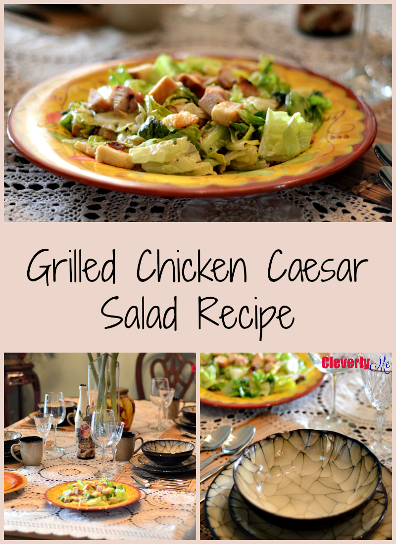 Grilled Chicken Caesar Salad Recipe. More at CleverlyMe.com