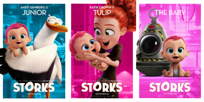 Storks in theaters now! Head on over to CleverlyMe.com and read our Stork Movie Review.
