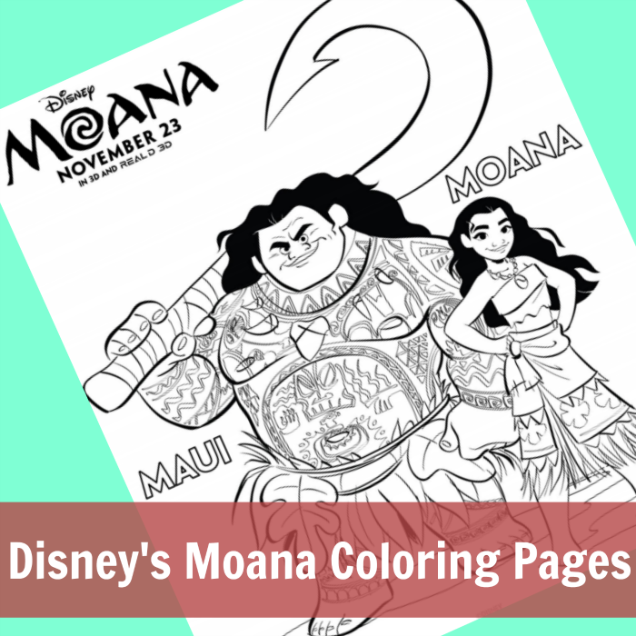Disney's Moana Coloring Pages