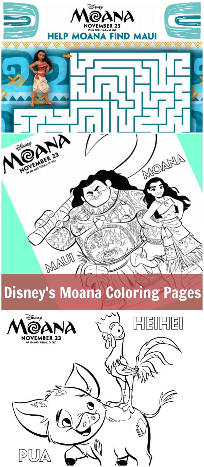 Disney\'s Moana Coloring Pages | Cleverly Me - South Florida ...