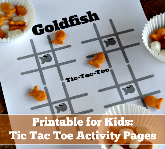 Printable for Kids: Tic Tac Toe Activity Pages