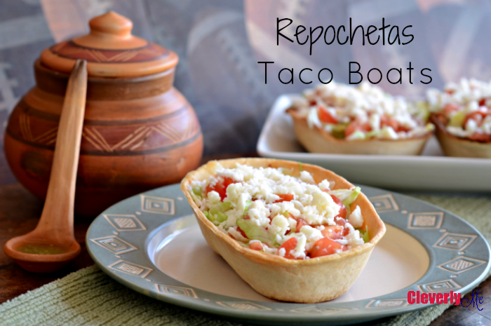 Enjoy this extremely easy to prepare and delicious to enjoy Repochetas Taco Boats Recipe. More at CleverlyMe.com