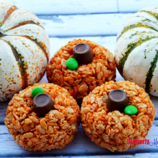 Rice Krispie Pumpkin Treats Recipe