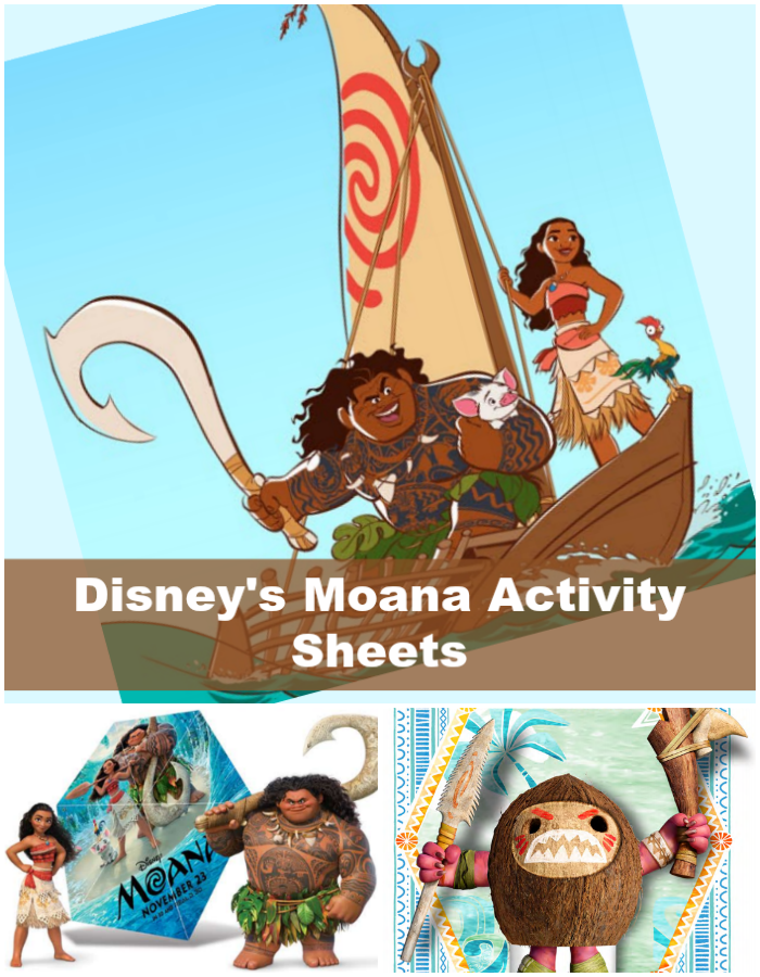 Check out these New Disney's Moana Activity Sheets available at CleverlyMe.com