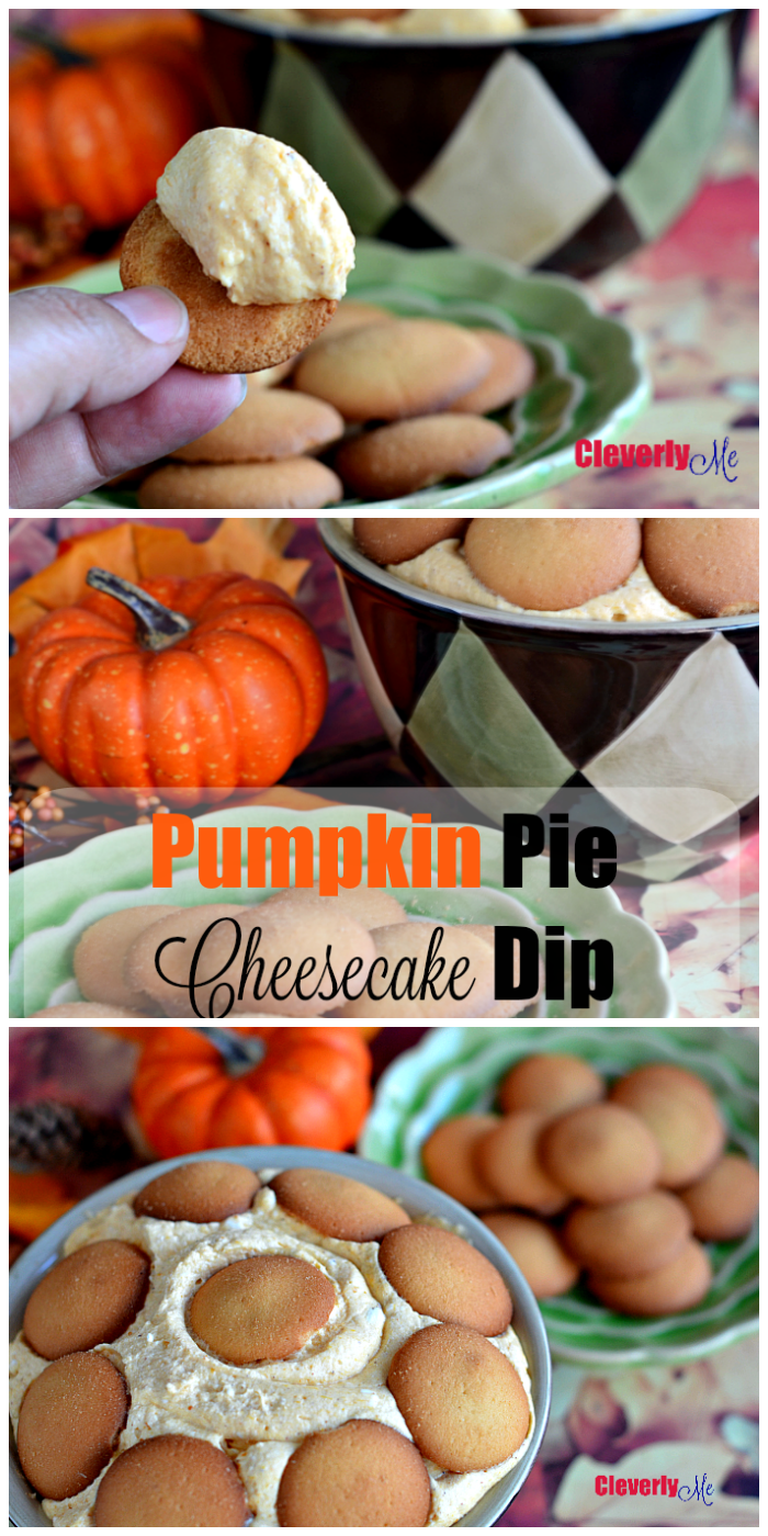 Serve this fluffy and creamy Pumpkin Pie Cheesecake Dip with your favorite crackers or fruits and enjoy the season. Get the recipe at CleverlyMe.com