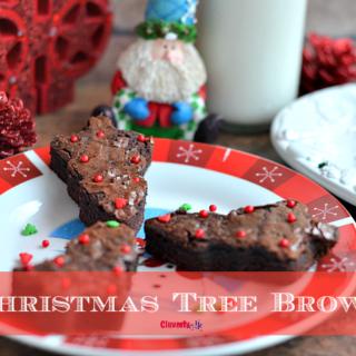 Easy Christmas Tree Brownies Recipe