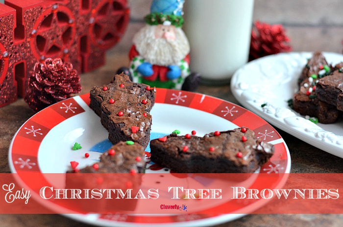 Easy Christmas Tree Brownies Recipe