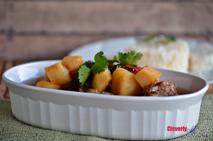 Enjoy this delicious and easy Instant Pot Carne con Papas (Latin Beef Stew) recipe. It is a must-have for meat and potatoes fans everywhere. Recipe at CleverlyMe.com
