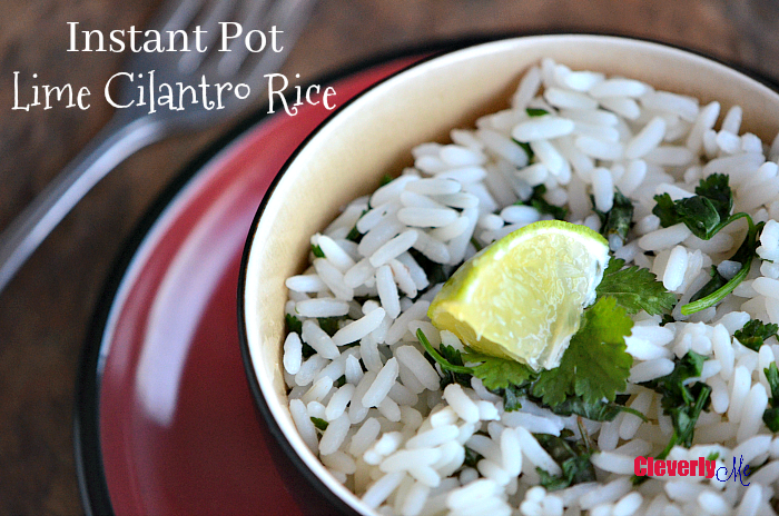 Enjoy this easy and delicious Instant Pot Lime Cilantro Rice Recipe on its own or paired with your favorite Mexican dishes. More at CleverlyMe.com