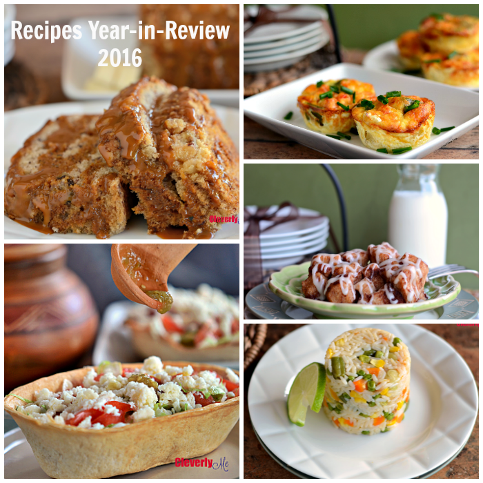 Check out all the easy-to-follow and delicious recipes added in 2016 to CleverlyMe.com