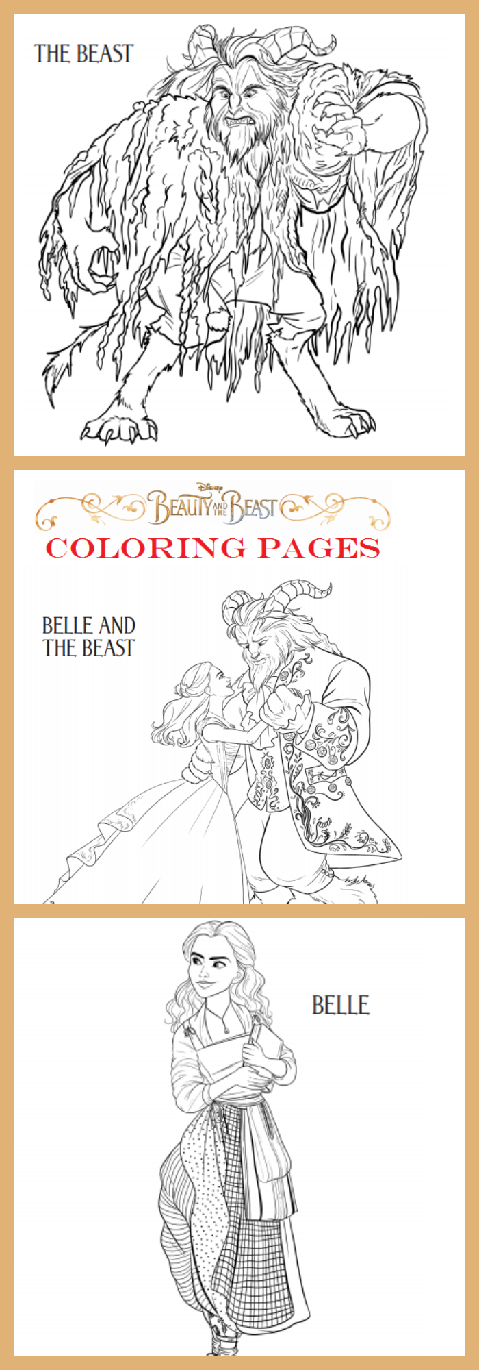 beauty and the beast coloring pages cleverly me south florida