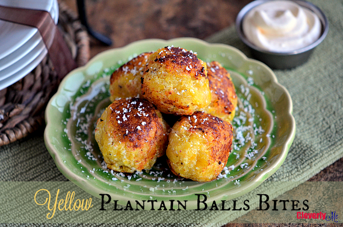 This Easy Yellow Plantain Bites Recipe is so tasty and so good, perfect for a quick snack or as part of your dinner. Get the recipe at CleverlyMe.com
