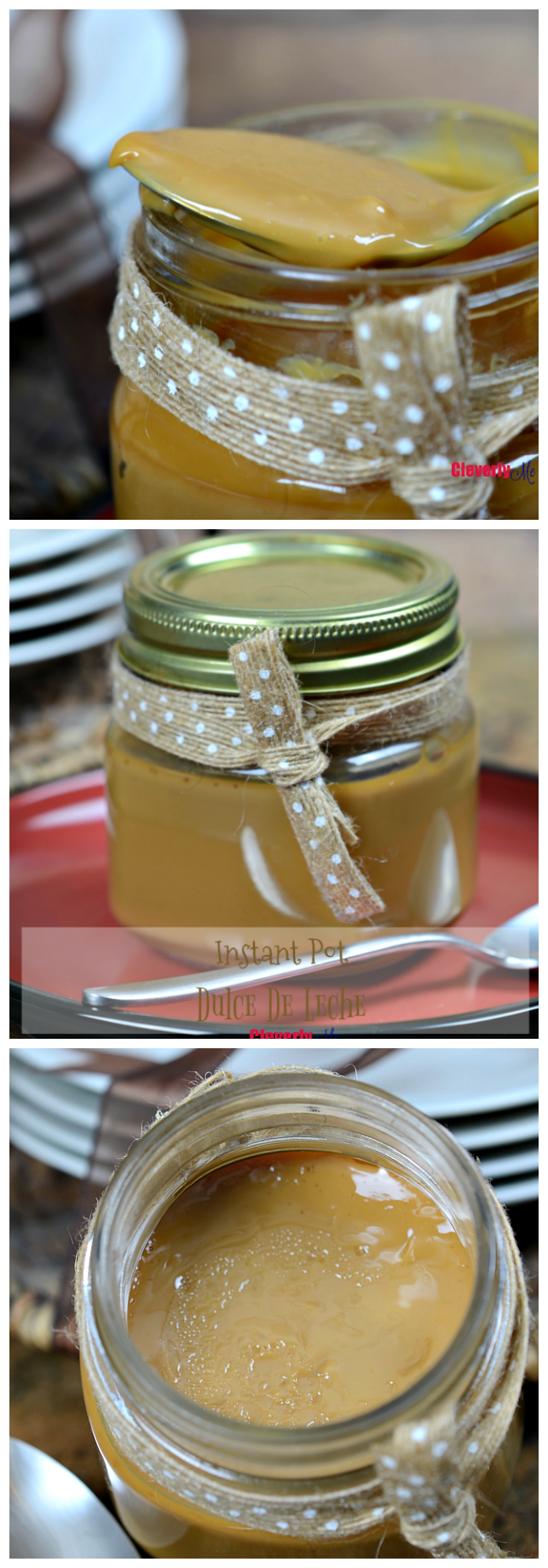 Make sure you grab a few sweetened condensed milk cans and make this Instant Pot Dulce De Leche recipe and enjoy it in your cheesecakes or as toppings in your ice cream or fruits. Recipe at CleverlyMe.com
