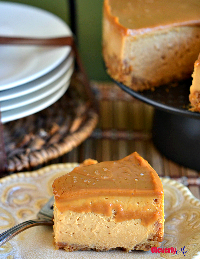 Looking for an easy dessert? This sweet and salty Instant Pot Salted Dulce de Leche Cheesecake Recipe can't be beaten! Your friends and family will be totally impressed, guaranteed. Get the recipe at CleverlyMe.com