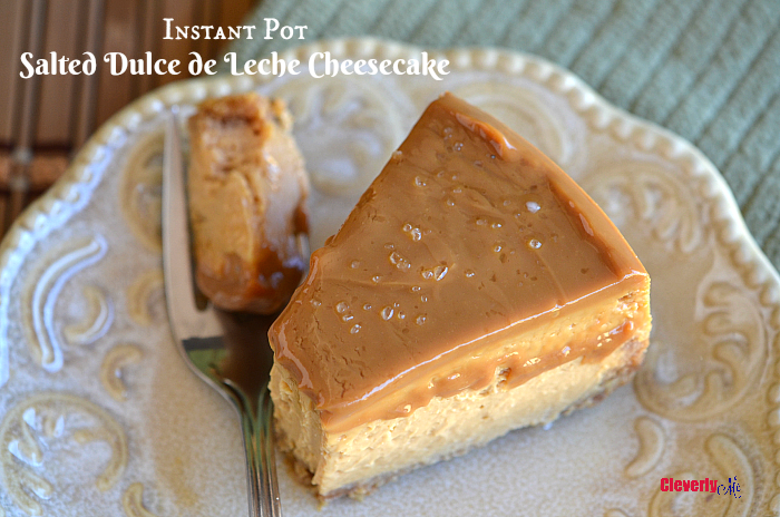 Instant Pot Salted Dulce de Leche Cheesecake Recipe