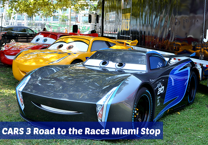 CARS 3 Road to the Races Miami Stop. More at CleverlyMe.com