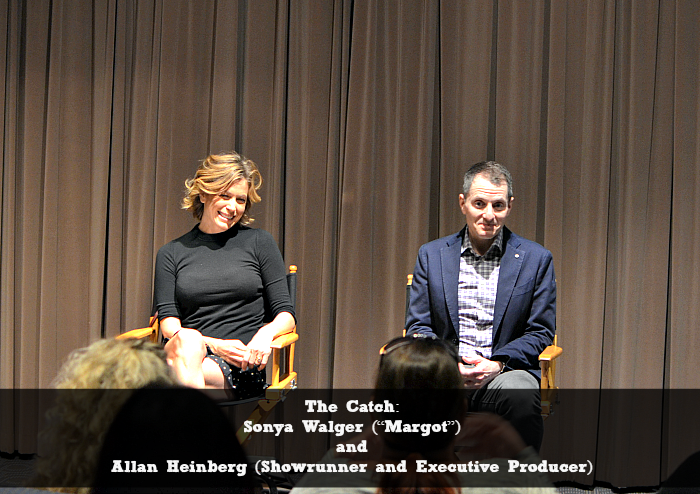 """The Catch: Sonya Walger (""""Margot"""") and Allan Heinberg (Showrunner and Executive Producer)"""