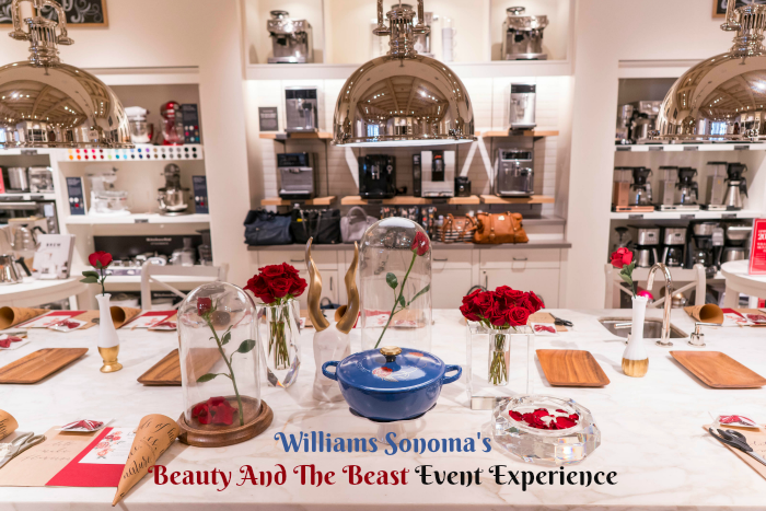 Williams Sonoma's Beauty And The Beast Event Experience. Read More at CleverlyMe.com
