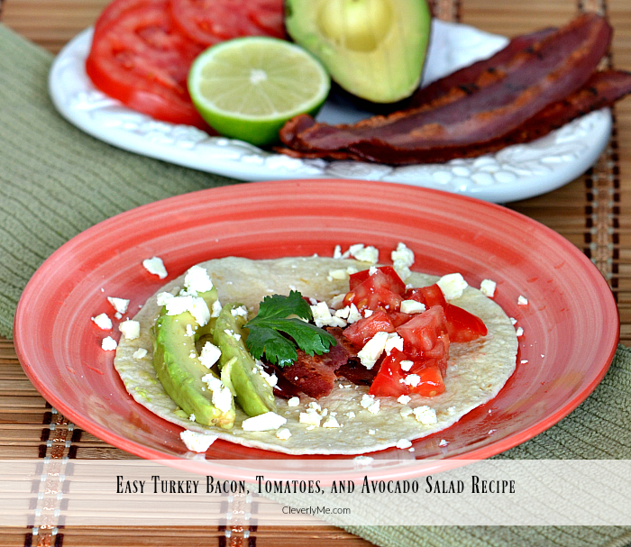 Easy Turkey Bacon, Tomatoes, and Avocado Salad Recipe