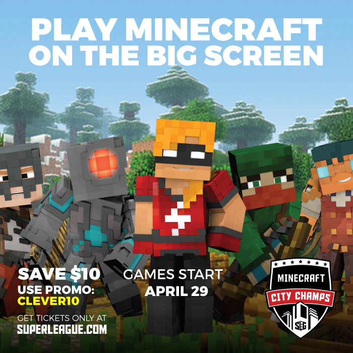 Minecraft Gaming on the Big Screen with Super League! More at CleverlyMe.com